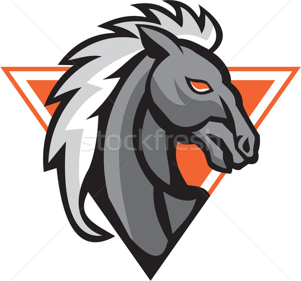 Horse Head Side Retro Stock photo © patrimonio