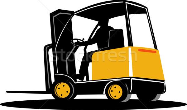 Targonca teherautó illusztráció izolált Stock fotó © patrimonio