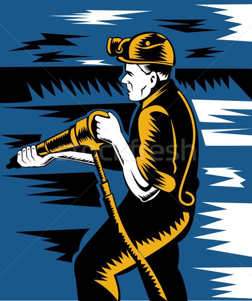 miner with pneumatic drill Stock photo © patrimonio