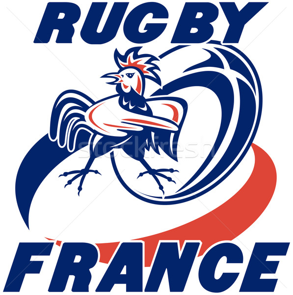 rugby rooster cockerel france Stock photo © patrimonio