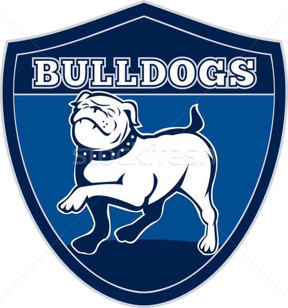 English bulldog british rugby sports team mascot Stock photo © patrimonio