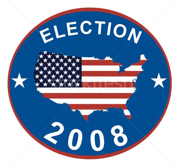 выборы 2008 логотип звезды иллюстрация Сток-фото © patrimonio