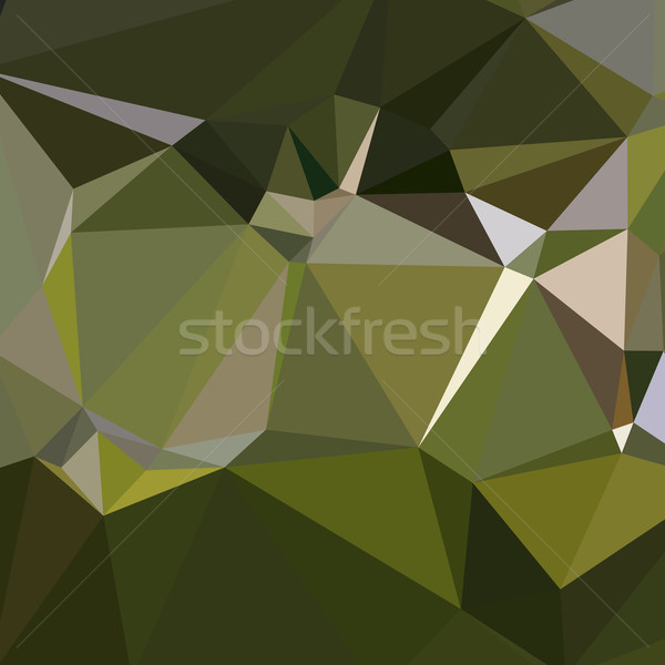 Hunter Green Abstract Low Polygon Background Stock photo © patrimonio