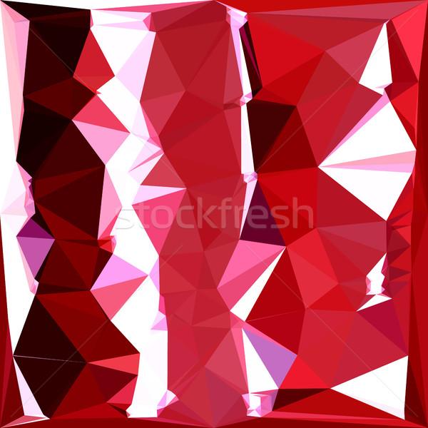 сарай красный аннотация низкий многоугольник стиль Сток-фото © patrimonio