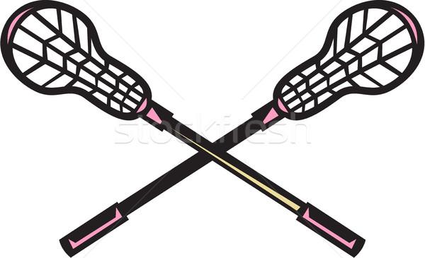 Lacrosse Stick Woodcut Stock photo © patrimonio