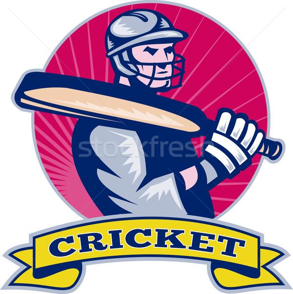 cricket sports batsman bat Stock photo © patrimonio