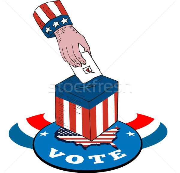 Americano elecciones votación cuadro retro Foto stock © patrimonio