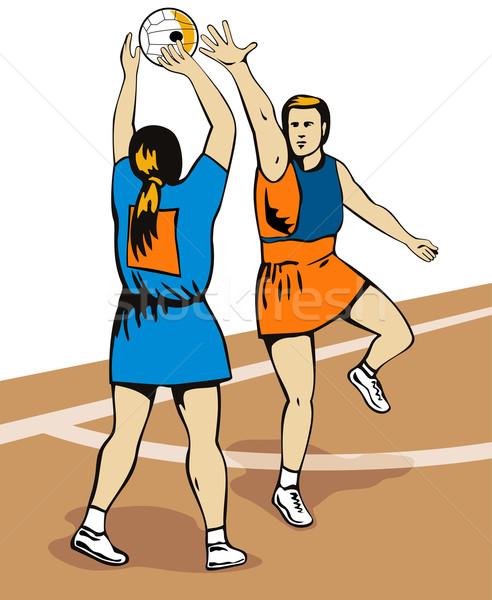 Netball Player Shooting Stock photo © patrimonio