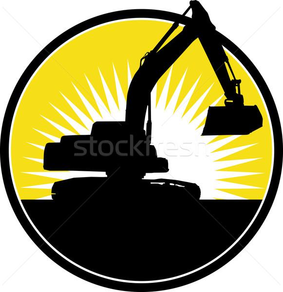 Mechanical Digger with sunburst  Stock photo © patrimonio