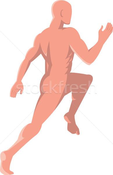 Masculino anatomia humana corrida ilustração vista lateral Foto stock © patrimonio