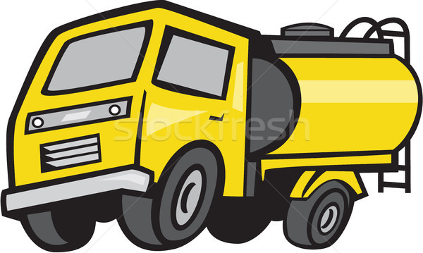 Baby Fuel Tanker Cartoon Stock photo © patrimonio
