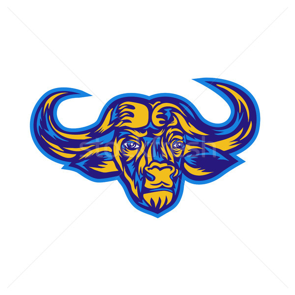 Cape Buffalo Head Retro Stock photo © patrimonio