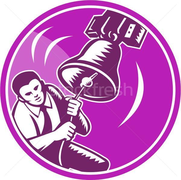 Businessman Ringing Liberty Bell Stock photo © patrimonio