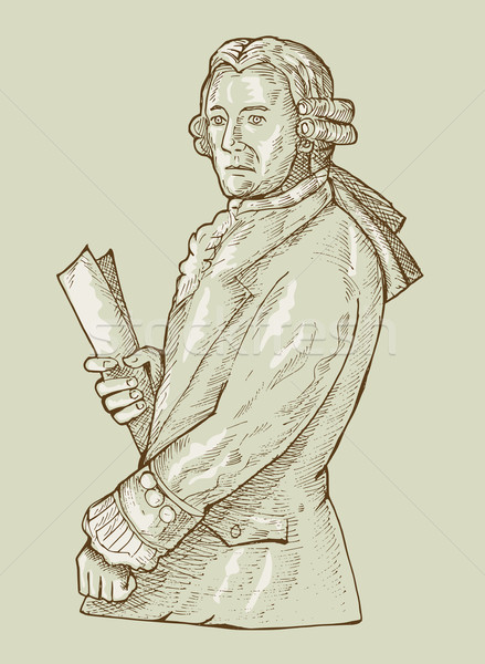 17th century gentleman or aristocrat wearing wig Stock photo © patrimonio