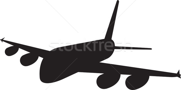 Comercial jato avião companhia aérea silhueta ilustração Foto stock © patrimonio