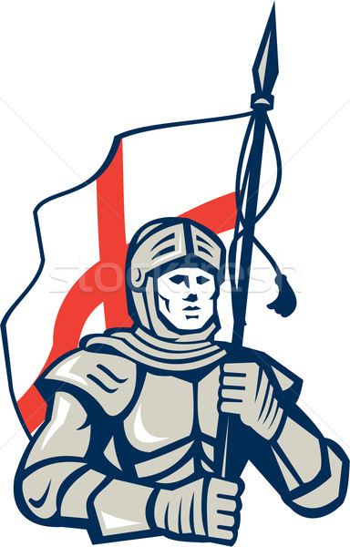 Knight British Flag Retro Stock photo © patrimonio