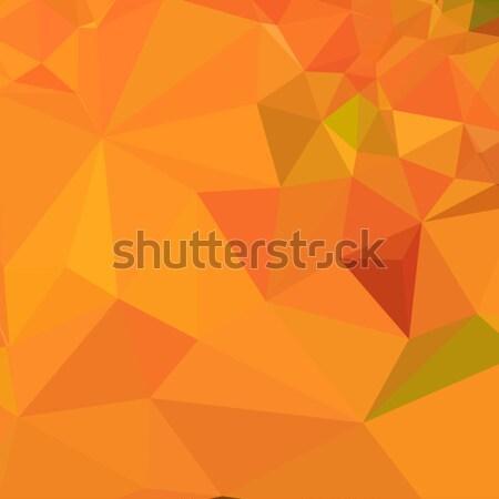 カボチャ オレンジ 抽象的な 低い ポリゴン スタイル ストックフォト © patrimonio