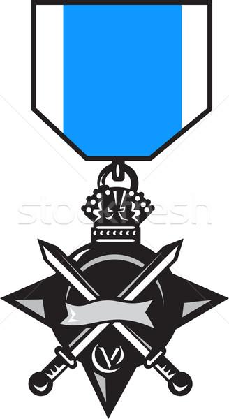 military medal of bravery crossed swords Stock photo © patrimonio