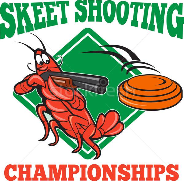 Crayfish Lobster Target Skeet Shooting Stock photo © patrimonio