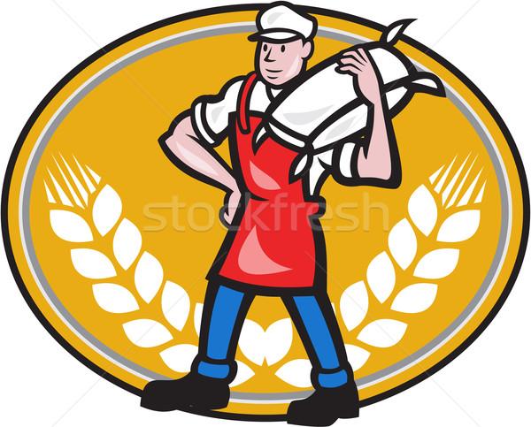 мучной мешок пшеницы овальный иллюстрация Сток-фото © patrimonio