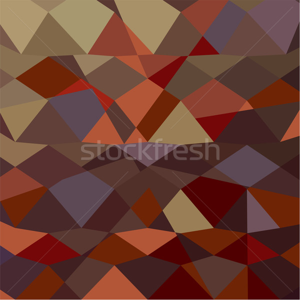Butterscotch Brown Abstract Low Polygon Background Stock photo © patrimonio