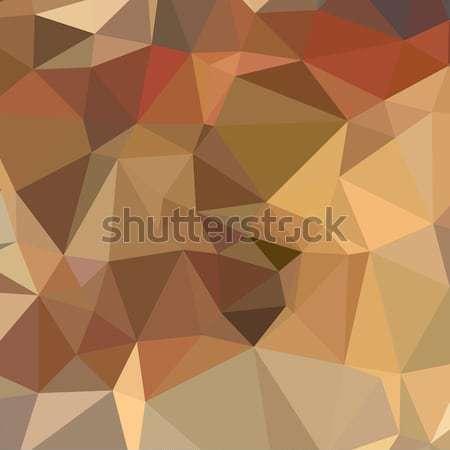 Deve kahverengi soyut düşük çokgen stil Stok fotoğraf © patrimonio