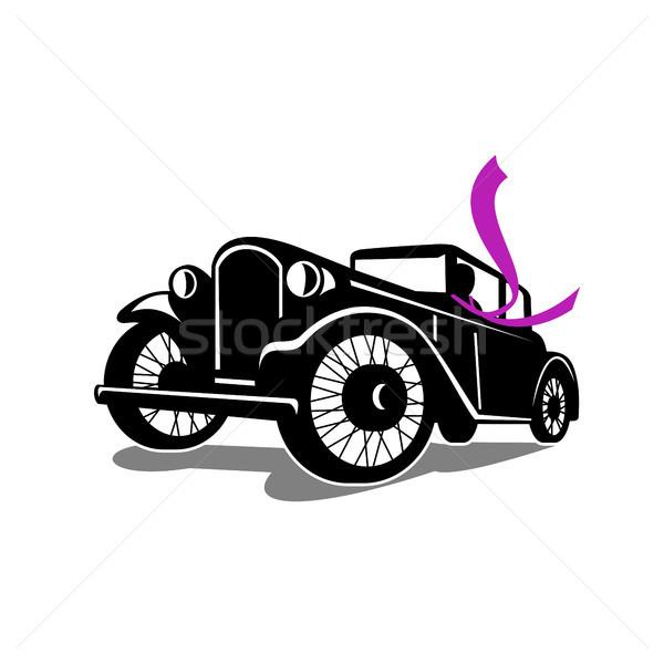 Bağbozumu coupe eşarp Retro retro tarzı Stok fotoğraf © patrimonio