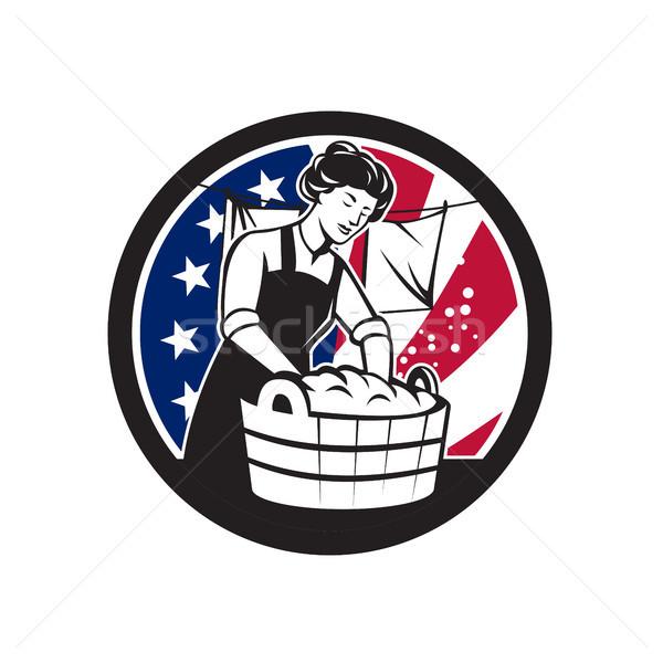 American Laundry USA Flag Icon Stock photo © patrimonio