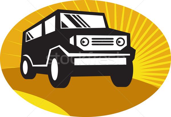 car suv road travel front Stock photo © patrimonio