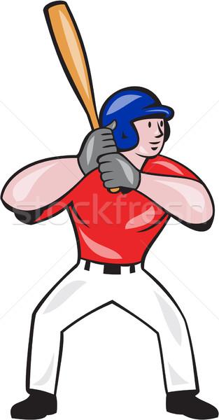 Jogador de beisebol isolado desenho animado ilustração americano Foto stock © patrimonio