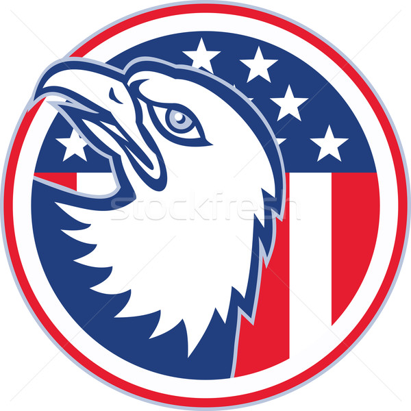 American Eagle Head Circle Retro Stock photo © patrimonio