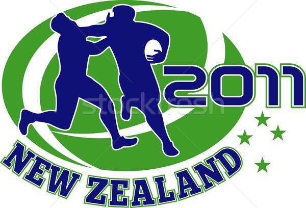 Rugby giocatore Neozelandese 2011 illustrazione esecuzione Foto d'archivio © patrimonio