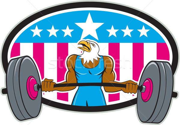 лысые орел штанга США флаг Сток-фото © patrimonio