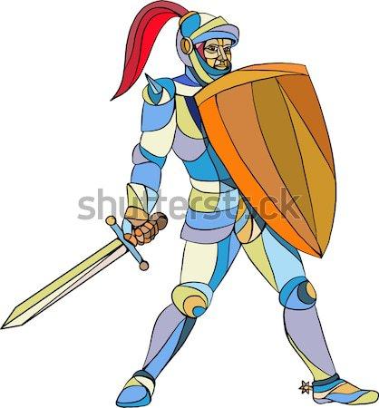 Musketeer Cape with Saber Cartoon Stock photo © patrimonio