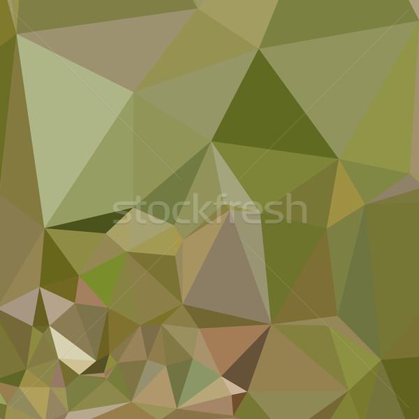 Dark Olive Green Abstract Low Polygon Background Stock photo © patrimonio