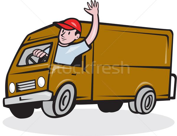 Rijden van cartoon illustratie Stockfoto © patrimonio