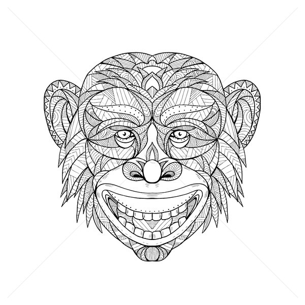 Chimpanzee Head Zentagle  Stock photo © patrimonio