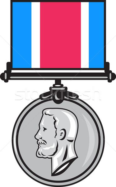 Militärischen Medaille Illustration ehren Kreuz Stock foto © patrimonio