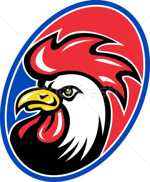 rooster cockerel head facing side Stock photo © patrimonio