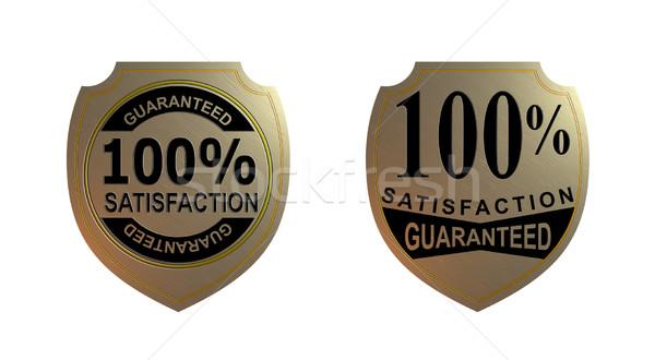 100 soddisfazione garantito oro sigillo illustrazione Foto d'archivio © patrimonio