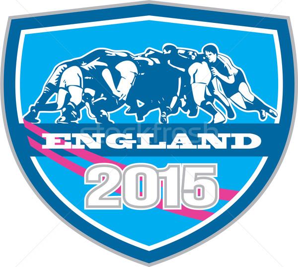 Rugby Scrum England 2015 Shield Stock photo © patrimonio