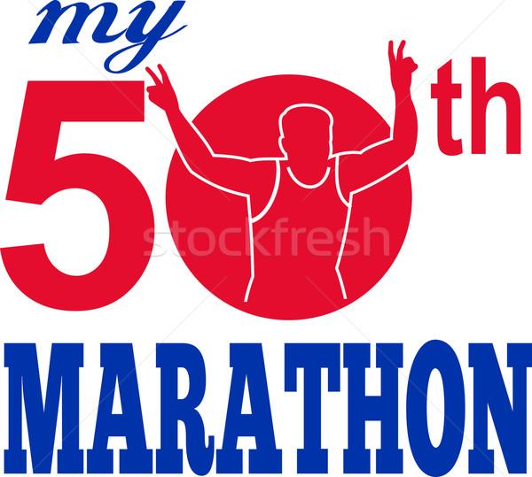 50th marathon run race runner Stock photo © patrimonio