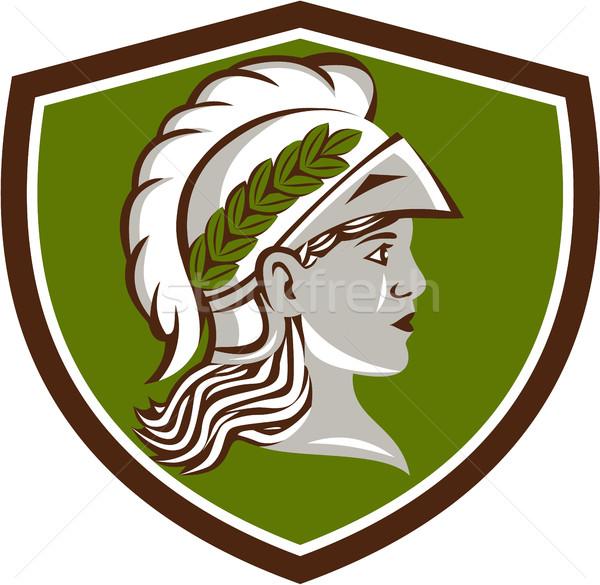 Minerva Head Crest Retro Stock photo © patrimonio