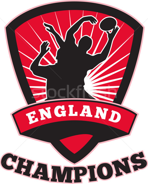 Stock photo: Rugby Player England Champions