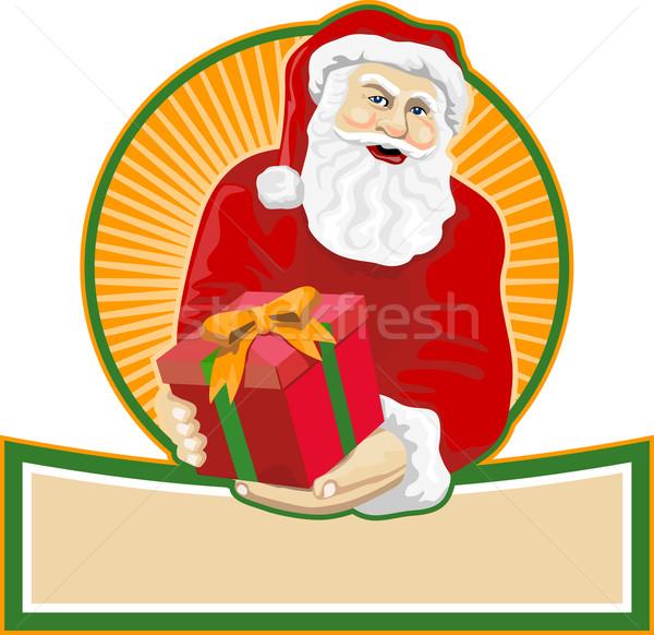 Santa Claus Father Christmas Retro Stock photo © patrimonio