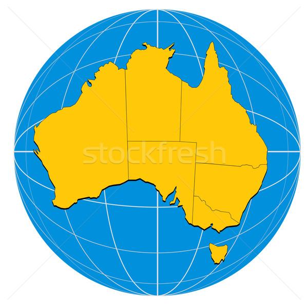 Globe Australia Map Stock photo © patrimonio