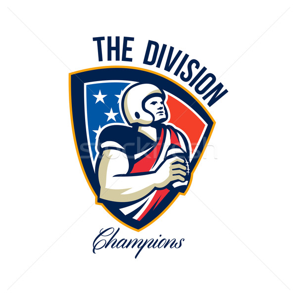 American Football Quarterback Division Champions Stock photo © patrimonio