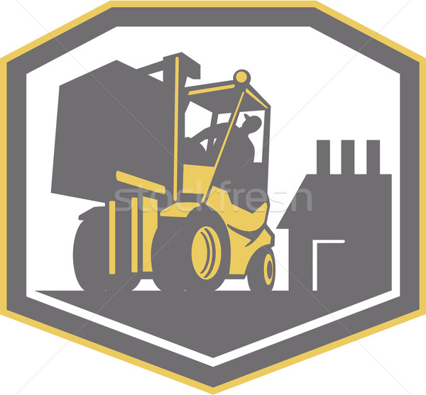 Forklift Truck Materials Handling Logistics Retro Stock photo © patrimonio