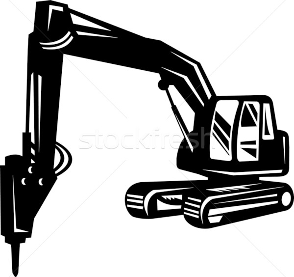 construction digger excavator Stock photo © patrimonio