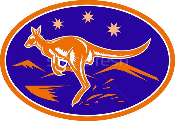 kangaroo jumping side view Stock photo © patrimonio